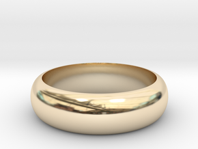 Rounded Band Ring in 14K Yellow Gold: 8 / 56.75