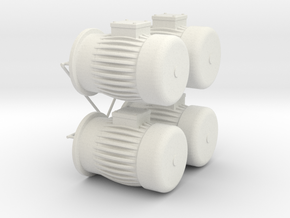 engine dummy Typ B in White Natural Versatile Plastic