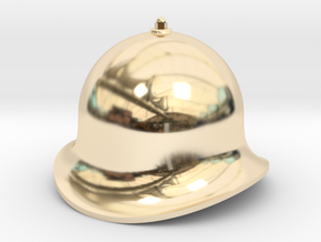 QH003 Quarry Hunslet Velinheli Dome, SM32 in 14k Gold Plated Brass