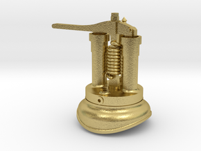 Quarry Hunslet Steam Turret for CLOISTER (SM32) in Natural Brass