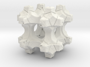 Fractal Cube: 01 in White Natural Versatile Plastic: Extra Small