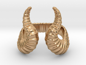 Horn Ring in Polished Bronze: 8 / 56.75