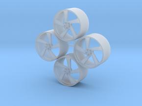 20'' Vossen CG-210t wheels in 1/24 scale in Smooth Fine Detail Plastic