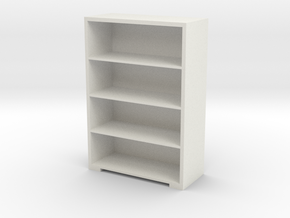 Bookshelf (9.2x6.4x2.8) 1/24 in White Natural Versatile Plastic