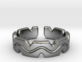 Fun crown [sizable ring] in Polished Silver