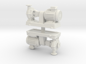 Motor Pump (x2) 1/87 in White Natural Versatile Plastic