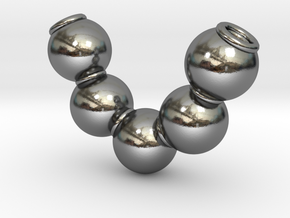 Fives balls [pendant] in Polished Silver