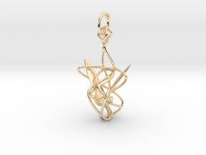 Swan in flight  pendant in 14k Gold Plated Brass