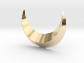 Moon in 14K Yellow Gold