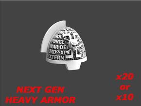 Deathvigil Aggressive Shoulderpad Sprue 1 in Smooth Fine Detail Plastic: Large