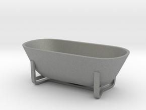 Moderm Bathtube 01. 1:24 Scale  in Gray PA12