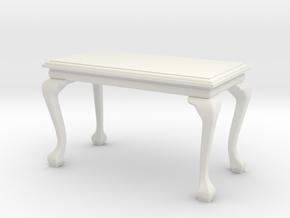 1:24 Georgian Table in White Natural Versatile Plastic