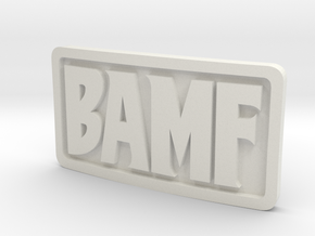1/3 Scale BAMF Buckle in White Natural Versatile Plastic