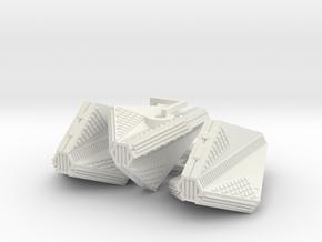 3125 Scale Tholian Patrol Corvettes (3) SRZ in White Natural Versatile Plastic