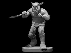 Bugbear Male Monk in Smooth Fine Detail Plastic