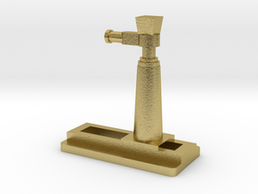 Herspoorkrik NS stoomlok in Natural Brass
