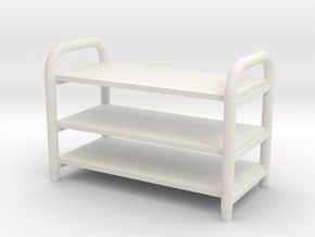 1:48 TV Stand in White Natural Versatile Plastic