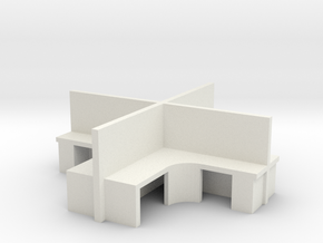 2x2 Office Cubicle 1/43 in White Natural Versatile Plastic