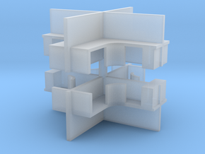2x2 Office Cubicle (x2) 1/200 in Smooth Fine Detail Plastic