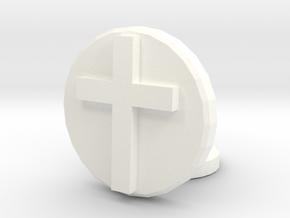 Latin Cross in White Processed Versatile Plastic