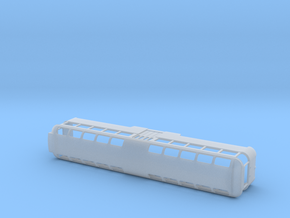 Blackpool Tram Twin Trailer 686 Perm Coupled - N in Smooth Fine Detail Plastic