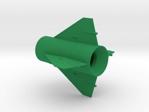 Little John Fin Unit BT50 for 13mm motors in Green Strong & Flexible Polished