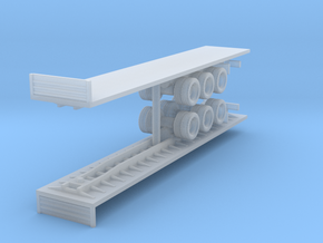Flatbed Trailer (x2) 1/220 in Smooth Fine Detail Plastic
