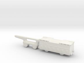 shell wagon 1/285 6mm in White Natural Versatile Plastic