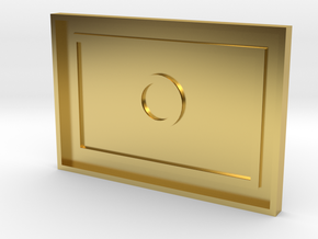 Culture Touch Plate Base in Polished Brass