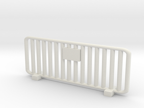 Crowd Control Barrier 1/35 in White Natural Versatile Plastic