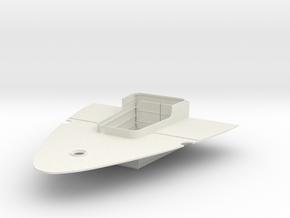 1/200 IJN Yamato Rear Airplane Hangar in White Natural Versatile Plastic