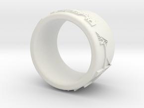 Hamburg Ring 1 in White Natural Versatile Plastic