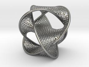 Borrometal (fine hexagonal mesh) in Natural Silver