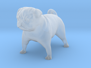 S Scale Pug in Smooth Fine Detail Plastic