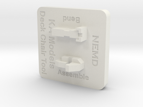 KA Models Deck Chair Tool in White Natural Versatile Plastic