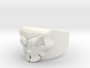 Skull Ring Size 11.5 in White Natural Versatile Plastic