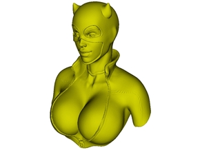 1/9 scale Catwoman superheroine bust in Smooth Fine Detail Plastic