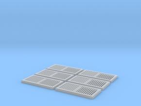 1:12 HVAC Vent 15x31 6pc in Smooth Fine Detail Plastic