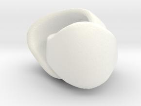 Rackney Knee Guards VINTAGE in White Processed Versatile Plastic