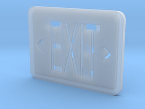 1:12 EXIT sign in Smooth Fine Detail Plastic
