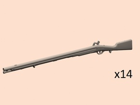 1/24 Prussian musket 1780 in Smooth Fine Detail Plastic