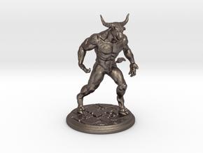 Minotaur Miniature 40mm in Polished Bronzed-Silver Steel