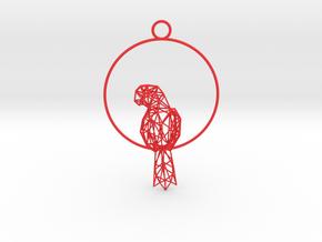 Resting Parrot in Red Processed Versatile Plastic
