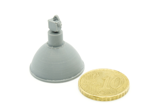 Industrial Lamp 01. 1:24 Scale (x2 Units) in Smooth Fine Detail Plastic