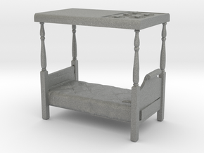S Scale Four Poster Bed in Gray PA12