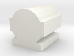 O-gauge steam headlight in White Natural Versatile Plastic