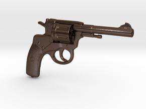 Nagant M1895 Revolver (⅓ scale) in Polished Bronze Steel