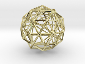 120-wireframe in 18k Gold Plated Brass