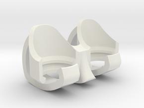 Bullet Holder/Loader Keychain for Ideal Conceal in White Natural Versatile Plastic