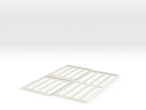Movement Tray [1x40 2x20 Models] 20mm Square in White Natural Versatile Plastic